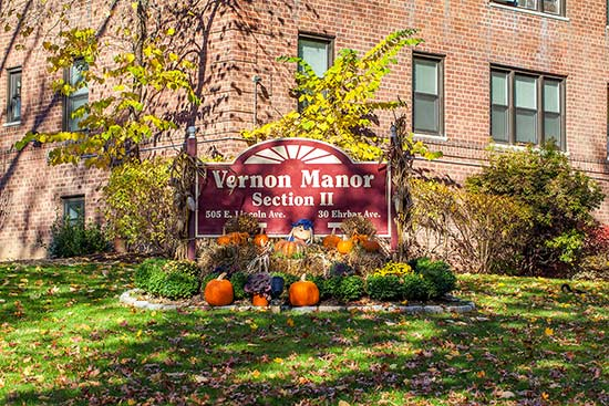 Vernon Manor Section II with Festive Decor