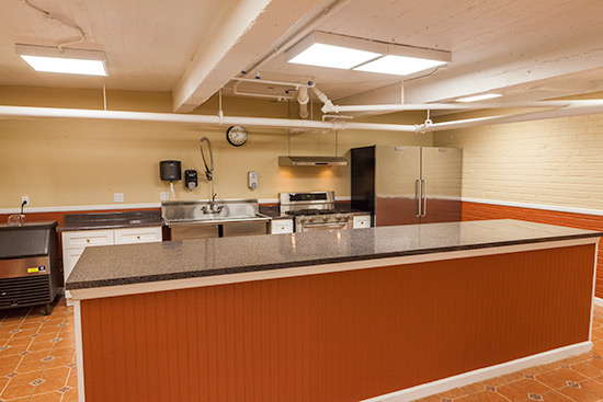 Kitchen area of the Recreation Room