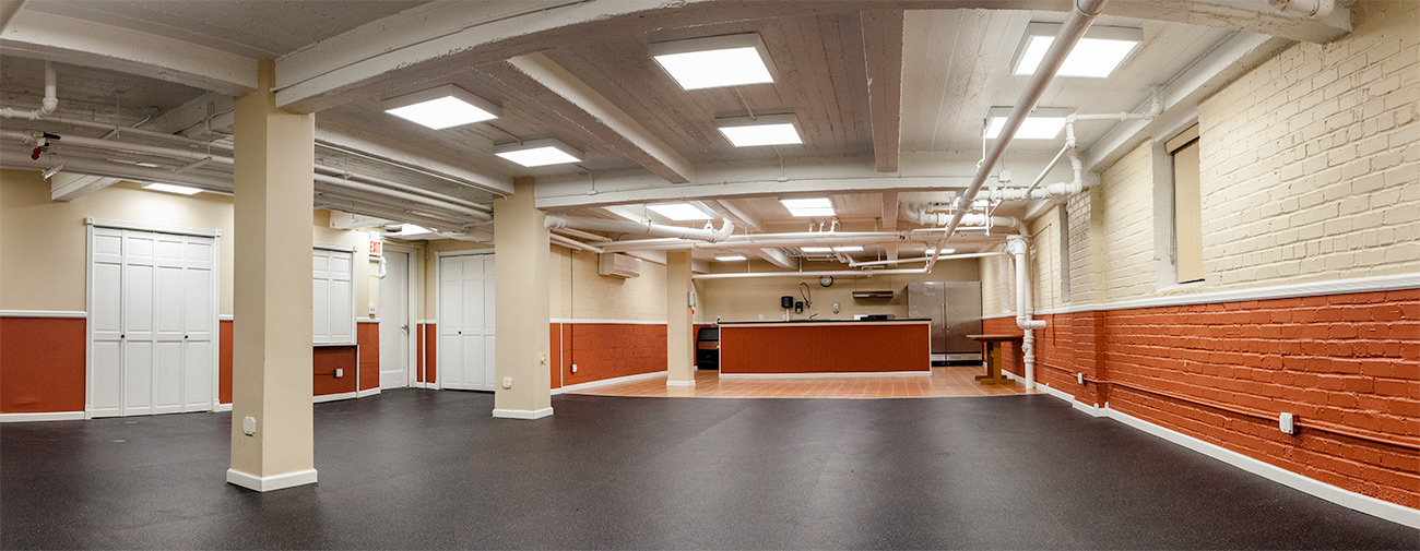 Panoramic view of the Recreation Room