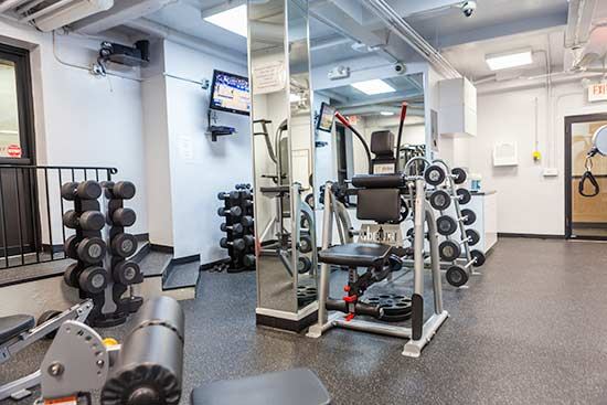 Weight Machines and TV in the Gym